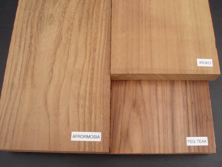 Afrormosia, Iroko, Teak Comparison