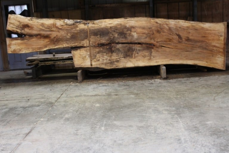 spalted, curly maple 677-6: 2.5″ x 18″-42″ x 15′ $1350