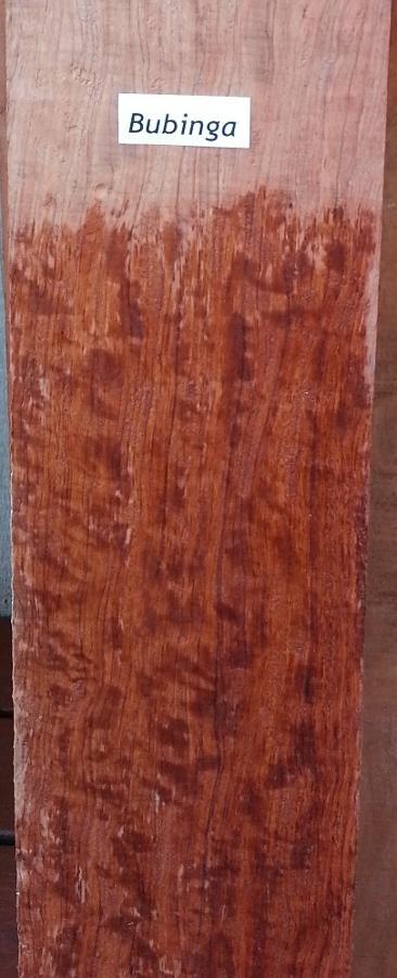 Bubinga Lumber Wetted
