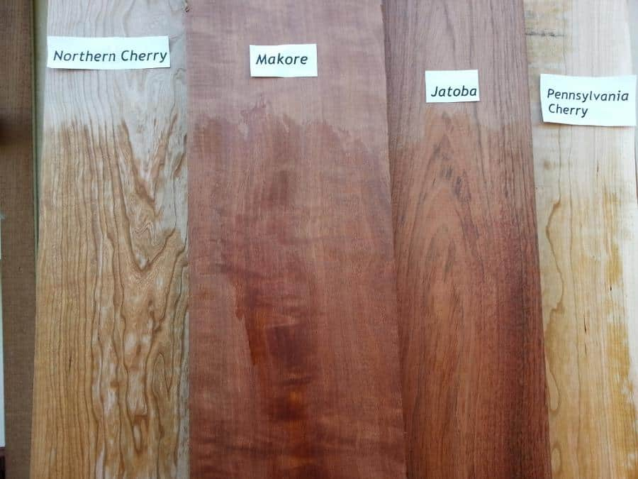 Cherry, Makore, Jatoba Comparison