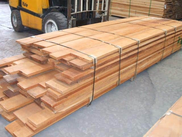 Mahogany Lumber ready to ship