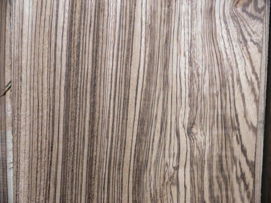 Heavy Stripe QS Zebrawood Board Close Up