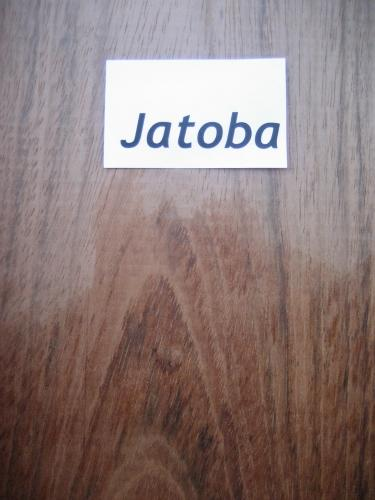 Jatoba wetted to show grain