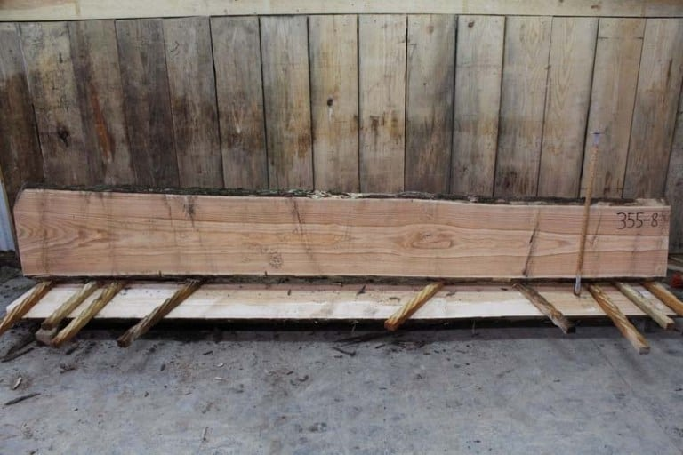 Slab 355-8, Rough Size: 2″ x 16″-20″ x 12′ $600