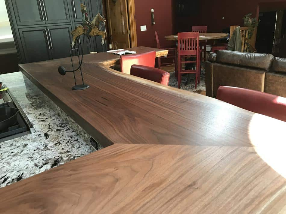 Live Edge Walnut Counter Island