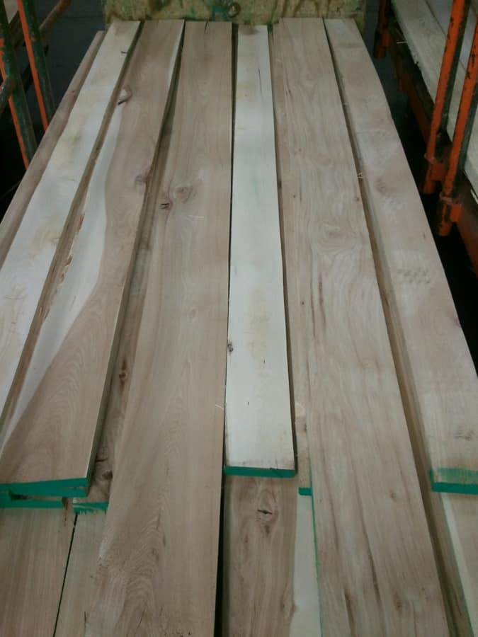 Natural Hickory Lumber
