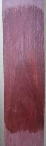Purpleheart Lumber wetted to show color & grain