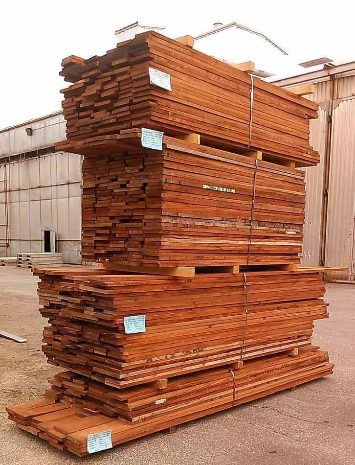 Bundle of Rough Cut Sapele Lumber