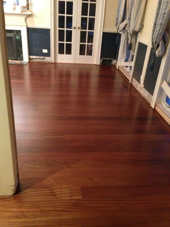 Finished Sapele Floor