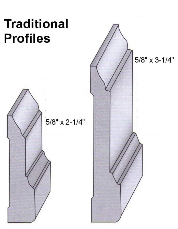 Hard Maple Traditional Maple Profiles