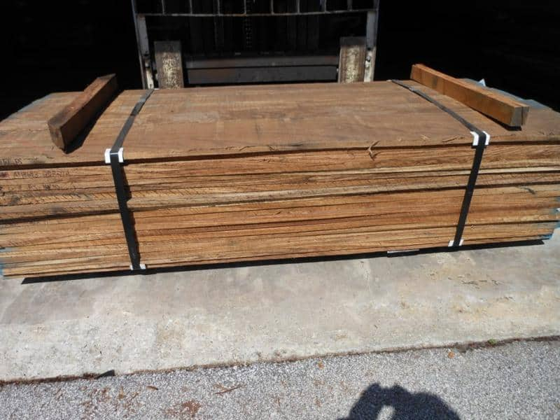 Unit of Plain sawn Zebrawood Lumber