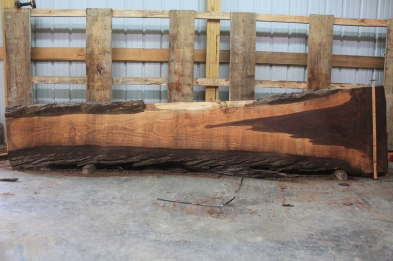 slab 315-1, rough size: 2.5″ x 11″-31″ x 11'6″ $625