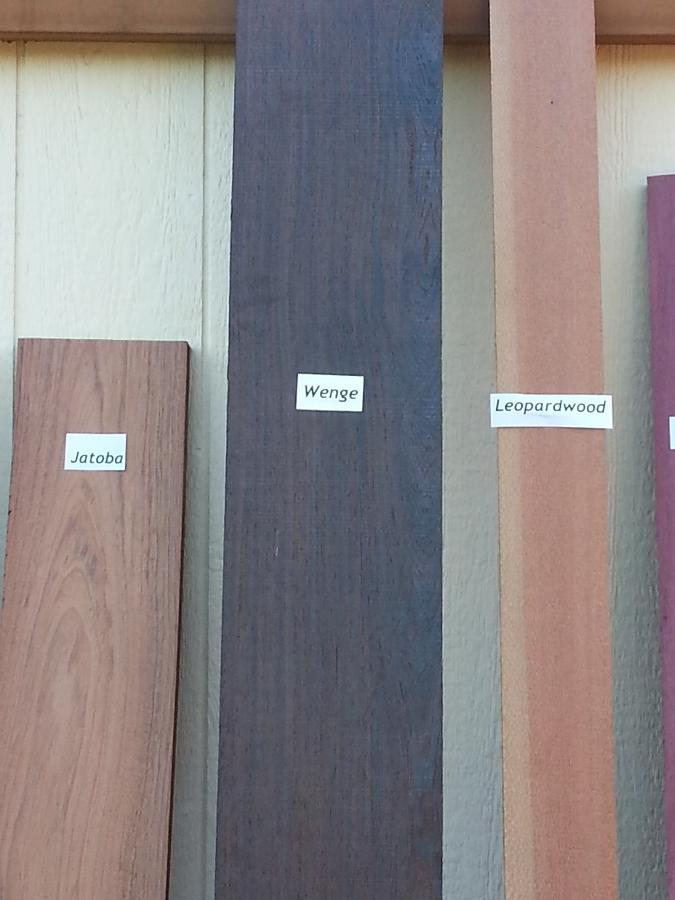 Wenge compared to Jatoba & Leopardwood