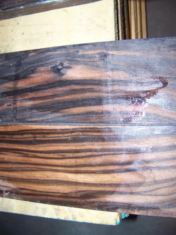 Macassar Ebony - Wetted to show grain