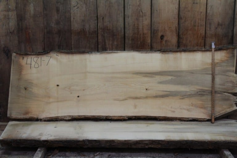 slab 481-7, rough size: 2″ x 27″-30″ x 8′ $725
