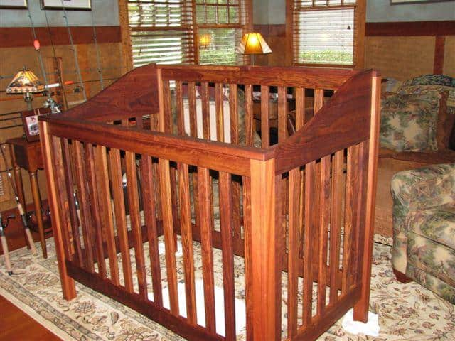 Caribbean Rosewood Baby Crib - Thanks to Patrick M!