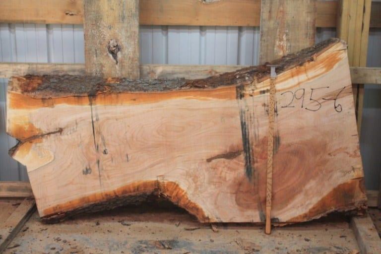 slab 295-6, rough size: 2.25″ x 20″-33″ x 6′ $500