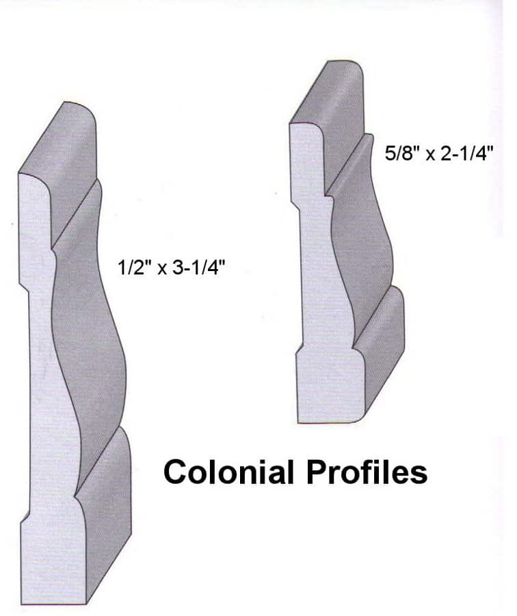 Colonial Red Oak Profiles