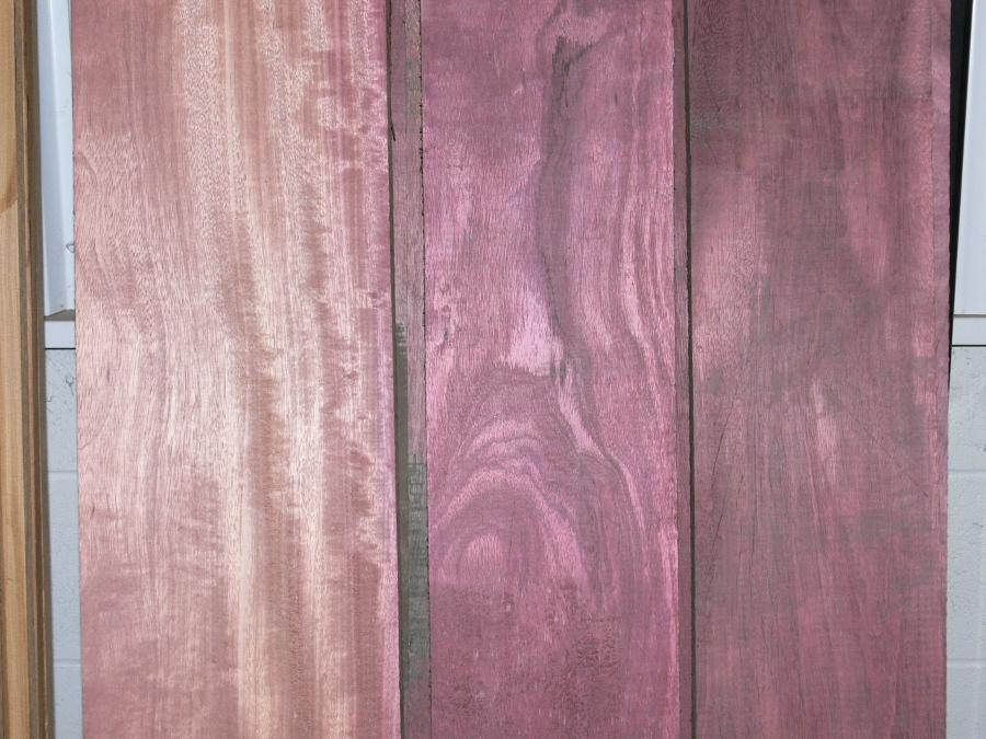 Purpleheart Lumber Close Up