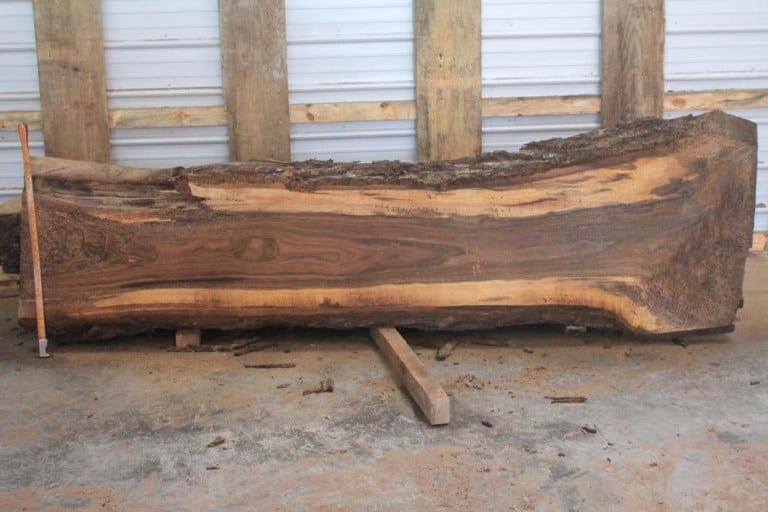 slab 220-2, rough size: 2.5″ x 15″-30″ x 9′ $800
