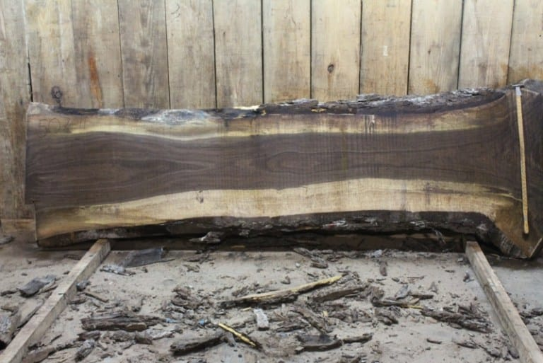 slab 507-11, rough size 2.5″ x 23″-41″ x 10′ $1000
