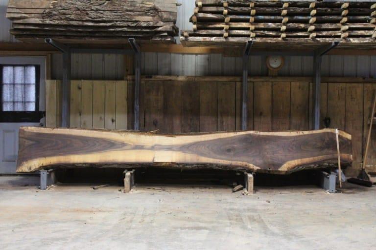 slab 593-1, rough size: 2.5″ x 16″-27″ x 16′ $1200