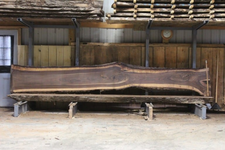 slab 593-6, rough size: 2.5″ x 16″-27″ x 16′ $1250