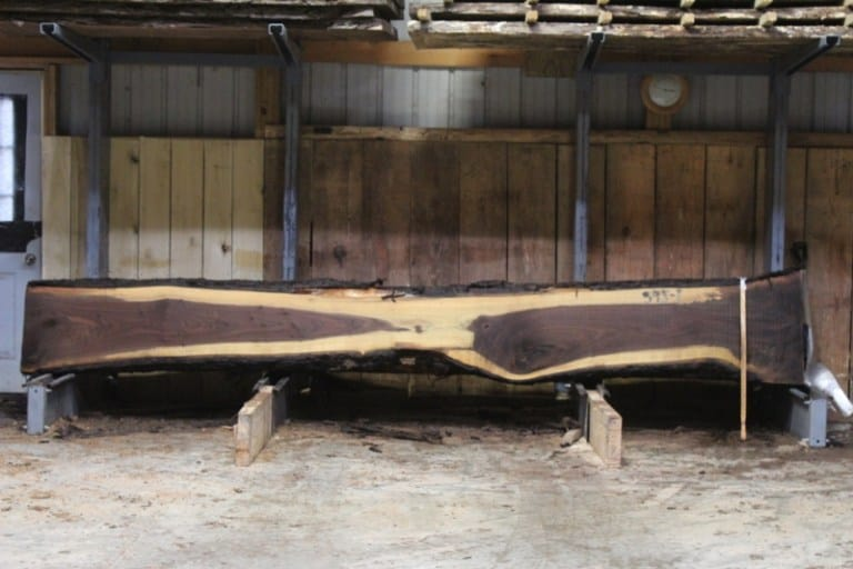 slab 595-1 rough size: 2.5″ x 12″-23″ x 14′ $1050