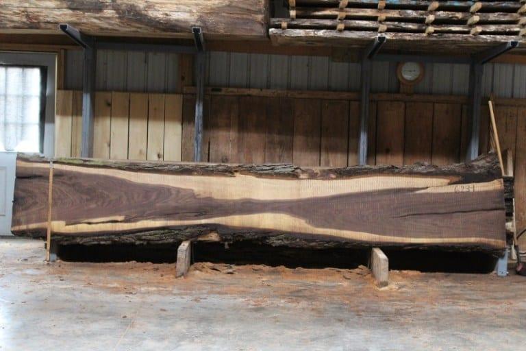 slab 623-1, rough size 2.5″ x 17″-24″ X 14′ $1100