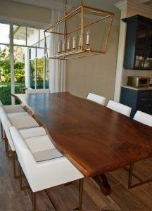 walnut slab table 11 foot live edge