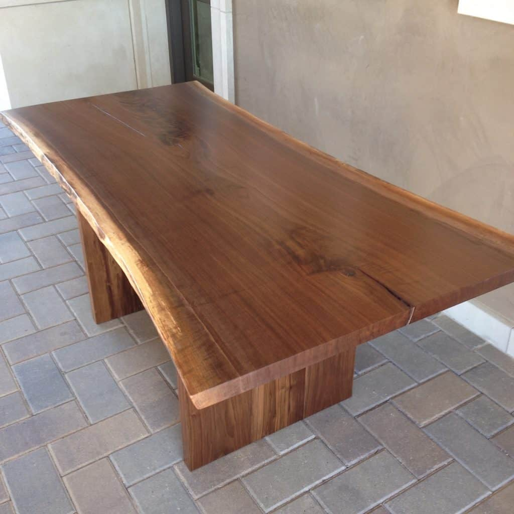 Walnut Live Edge trestle top