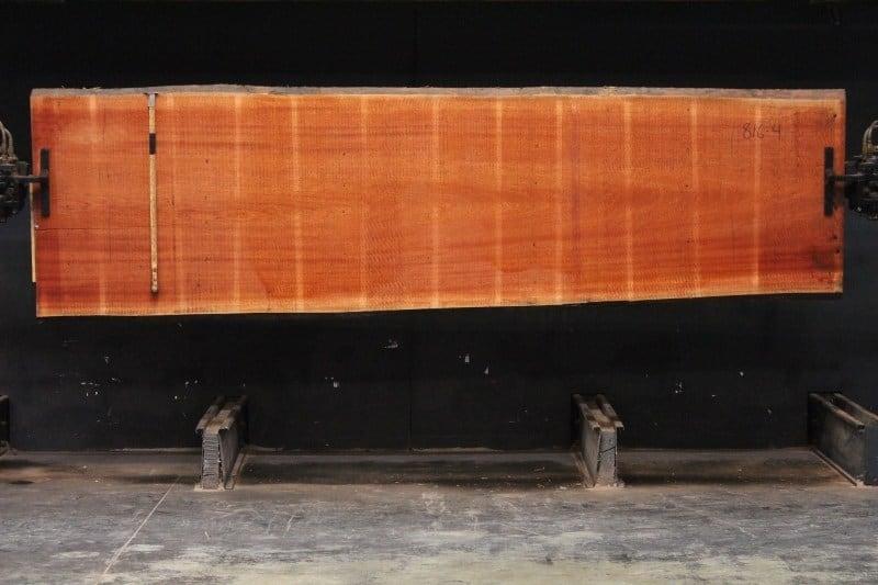 sipo slab 816-4, 2″ x 35″-40″ (avg. 38″) x 12′ $1525