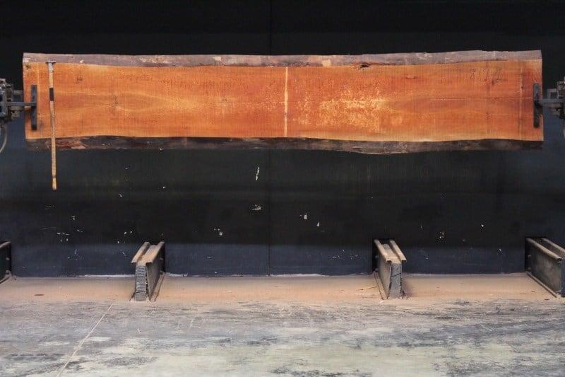 sipo slab 817-1, 2″ x 19″-22″ (avg. 20″) x 12′ $900