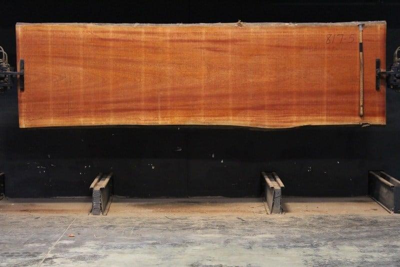 sipo slab 817-5, 2″ x 39″-41″ (avg. 39″) x 12′ $1800
