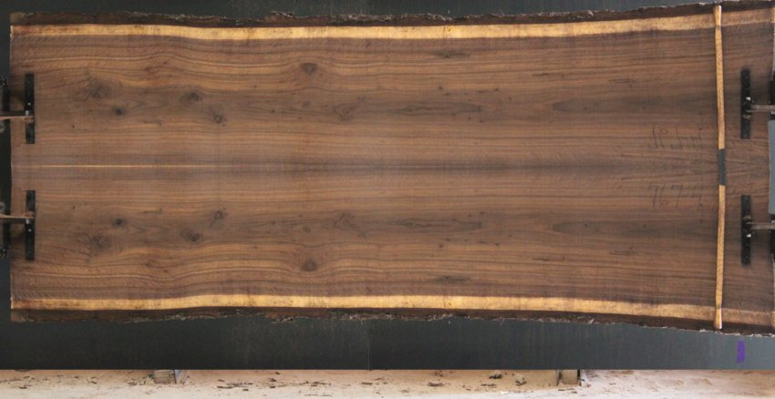 walnut 767-3&4 simulation, approx. size 2″ x 48″ x 11′ Both Rough Slabs $2550 sale pending PR 3-2-18