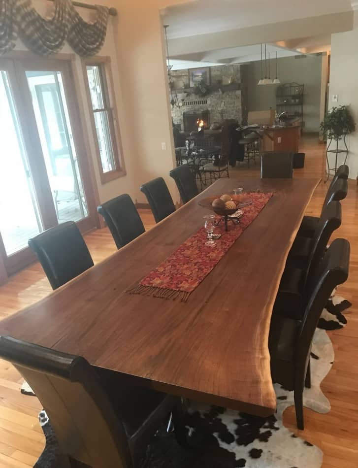 Live Edge Walnut Dining Room Table 12Foot