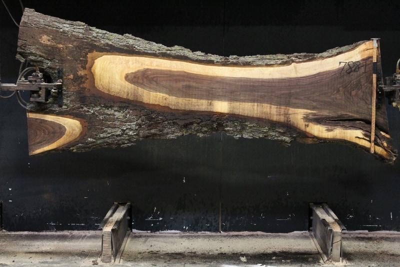slab 788-1, rough size 2.5″ x 12″-30″ (avg. 16″) x 9′ $600