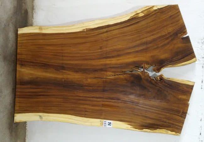 Slab N103, surfaced size 2.75″ x 76-65-57″ x  102″  $1900