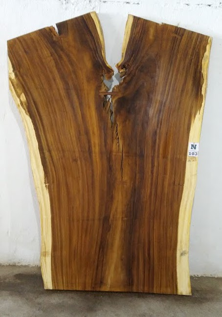 Slab N103, surfaced size 2.75″ x 76-65-57″ x  102″  $2600
