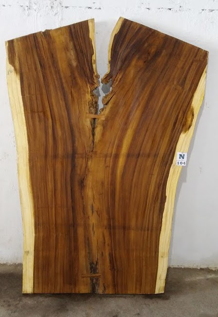 Slab N104, surfaced size 2.75″ x 81-65-57″ x  103″  $2675