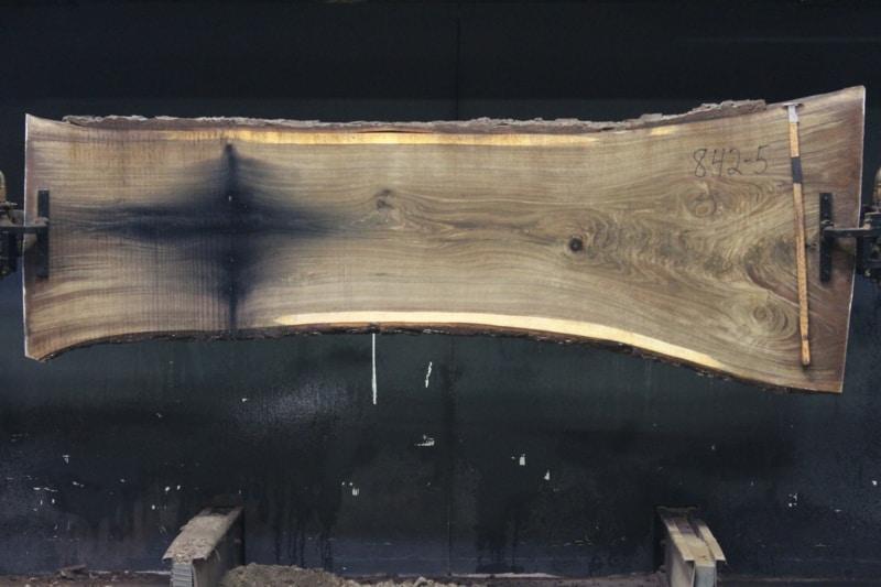 slab 842-5 rough size 2″ x 26-40″ avg. 28″ x 9′ $925