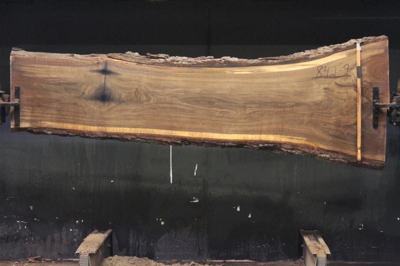 slab 842-9 rough size 2″ x 21-34″ avg. 23″ x 9′ $725