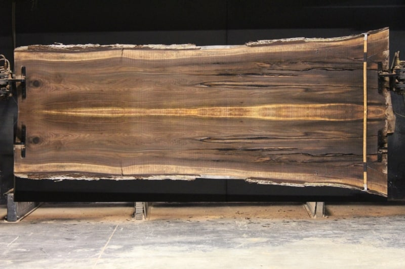walnut 902-1&2 simulation, approx. size 2″ x 44″ x 12′ Both Rough Slabs $2200