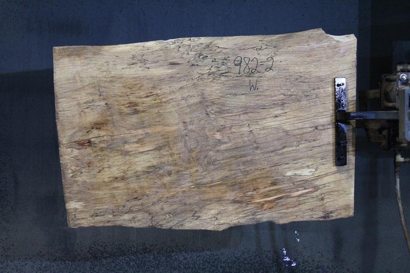 slab 982-2 Wide Side. Surfaced size 1.75″ x 20-22″ avg. 21″ x  3′ $395