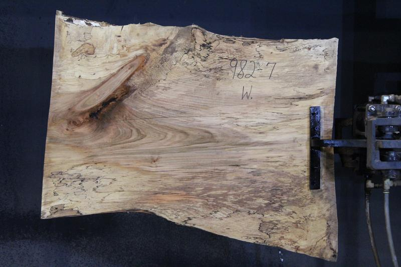 slab 982-7 Wide Side. Surfaced size 1.5″ x 25-30″ avg. 26″ x  3′ $395