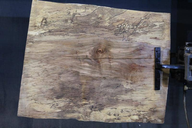 slab 982-8 Wide Side. Surfaced size 1.5″ x 30-31″ avg. 30″ x  3′ $395