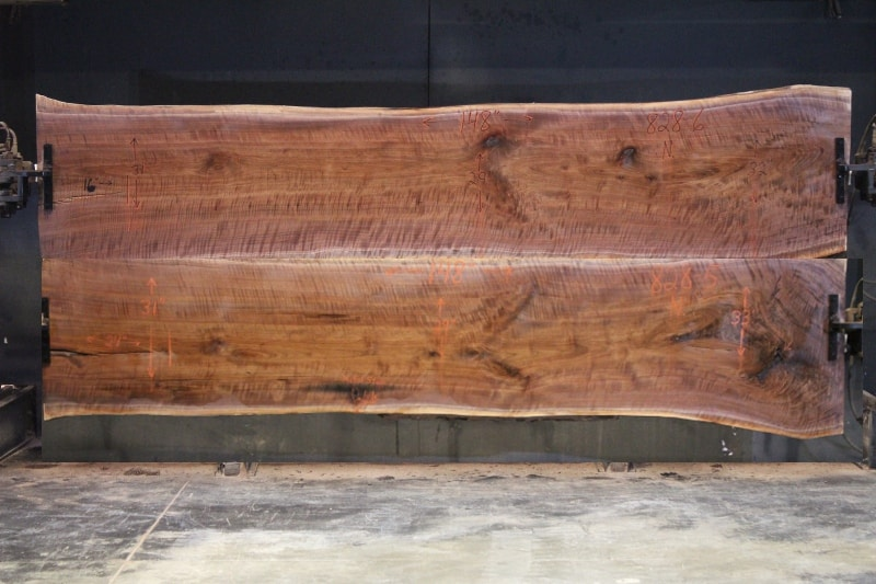 walnut 828-5&6 simulation approx. size 1.63″ x 55″ x 12′ Both Surfaced Slabs $4950