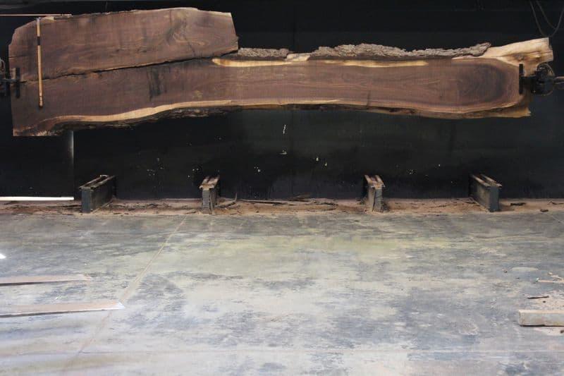 Walnut Slab 813-1, rough size  2″ x 17-48″ avg. 24″ x  17′ $1475
