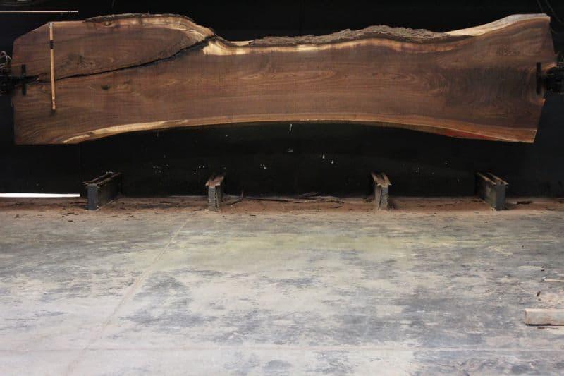 Walnut Slab 813-3, rough size  2.5″ x 30-50″ avg. 36″ x  18′ $2450