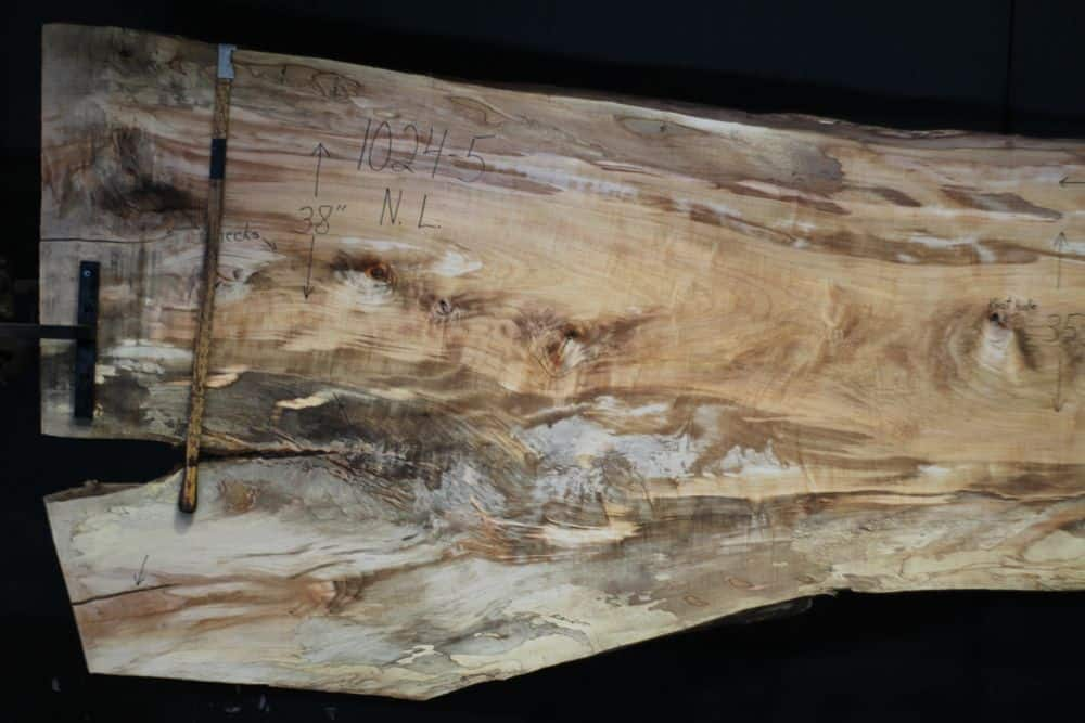 Spalted Maple Slab 1024-5, Narrow Face, Left Side